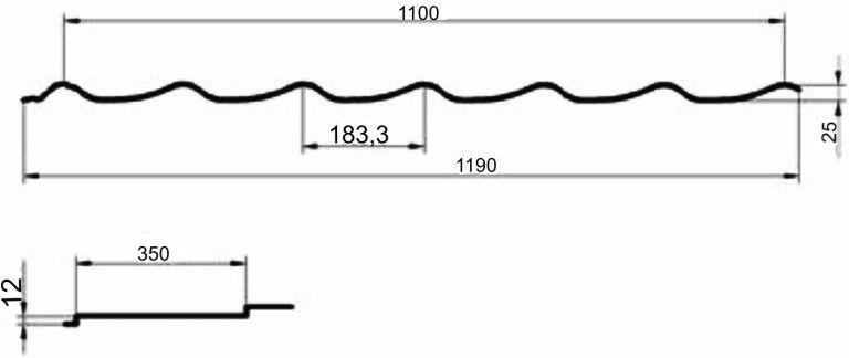 Характеристики металлочерепицы Монтеррей