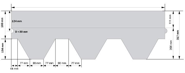 Схема гонта мягкой черепицы Classic