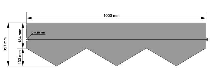 Схема гонта битумной черепицы Foxy
