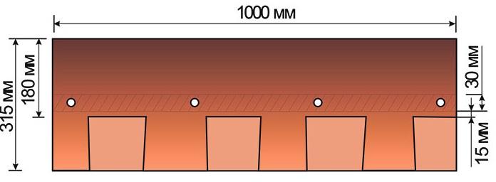 Схема гонта мягкой черепицы Мэншен