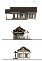 Антонио Гауди с двухскатной крышей